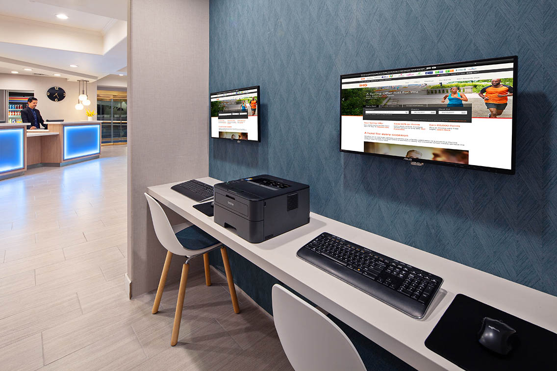Business Center Amenities - Best Hollywood Hotel Stay Book Holiday Inn Express Hollywood Walk Of Fame Hotel